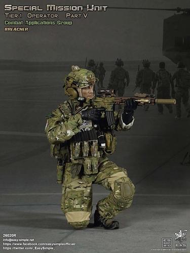 Easy & Simple 26020R SMU Part V CAG Assault Team Breacher - New