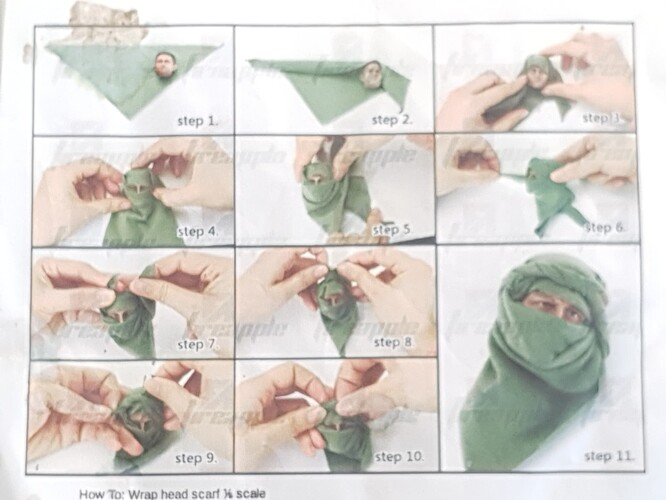 how to wrap a scarf 4 1-6 scale