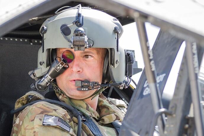 AH64 crew helmet
