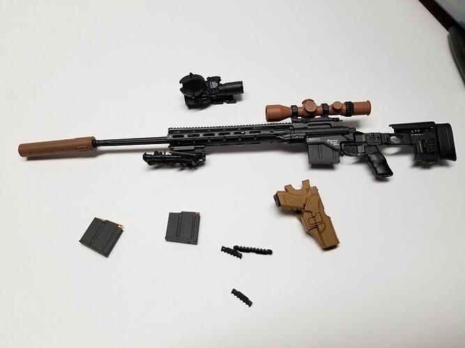 E&S Sniper XM2010 and Glock 1 s