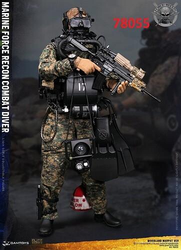 78055 Marine Force Recon Combat Diver Woodland