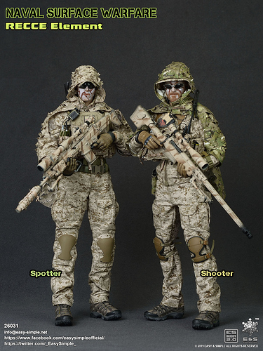 1//6 Easy Simple NSW Recce Team Shooter FAST High Cut Helmet Set