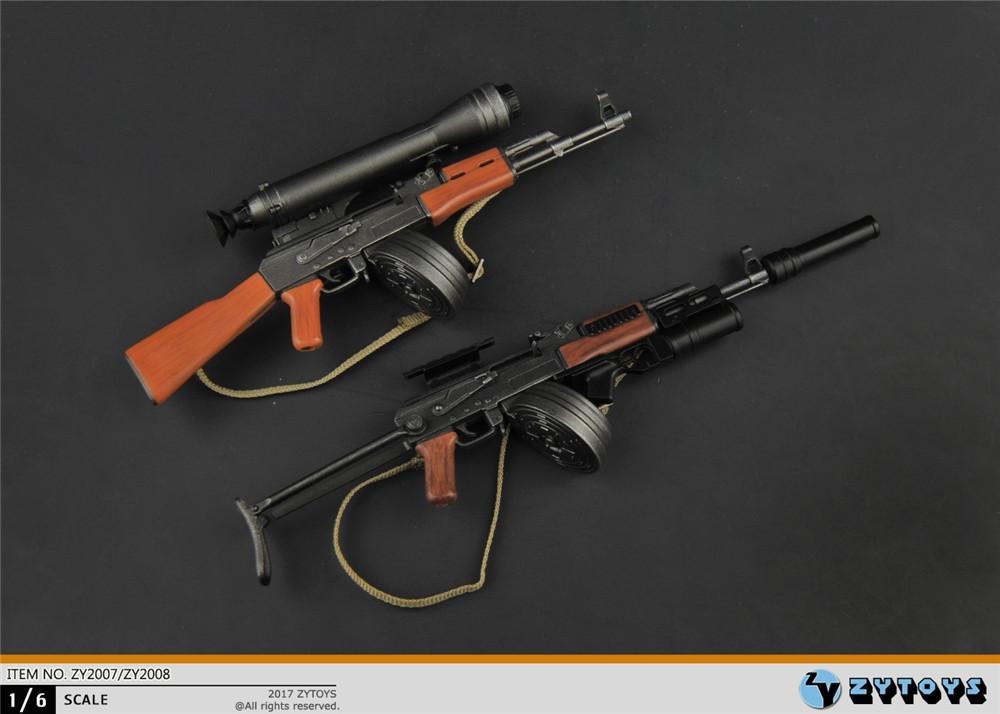 "ZY TOYS AK-47 Assault Rifle Set 1//6 Fit for 12/"" actIon figure"