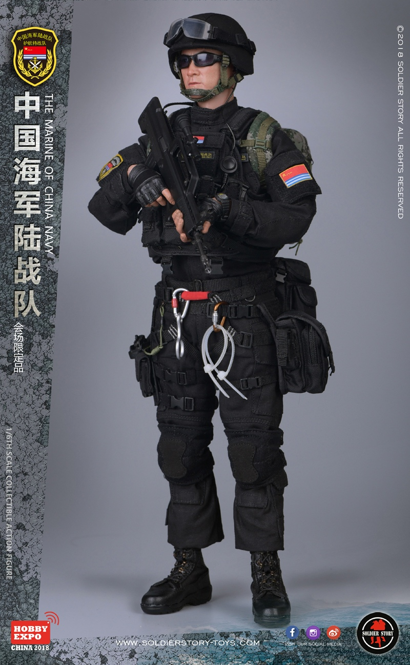 1//6 Scale Soldier Story Figures Blue Steel Commando QBZ95 Assault Rifle