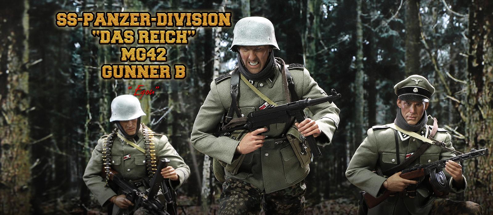 DID D80131 1//6 German Panzer Divison Reich MG42 Gunner B Egon Figure Body Model