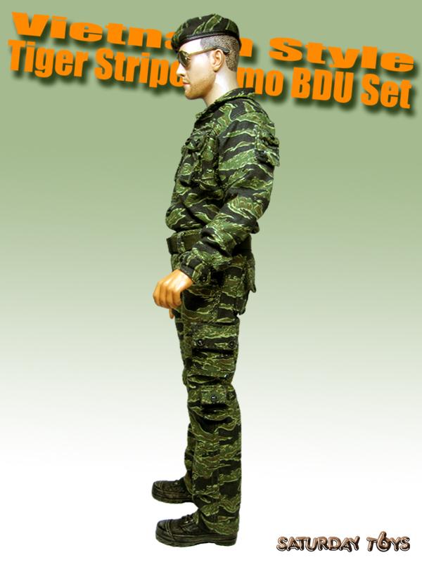 1//6 Saturday Toy Vietnam Tiger Stripe Camo BDU Set