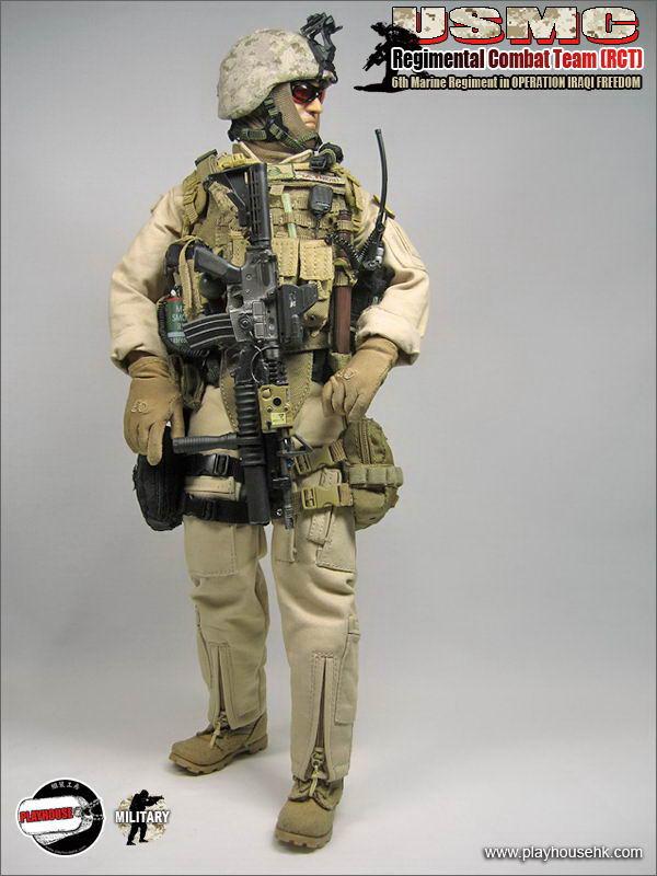 Tan Gloves 1//6 scale toy USMC RCT 6th Regiment