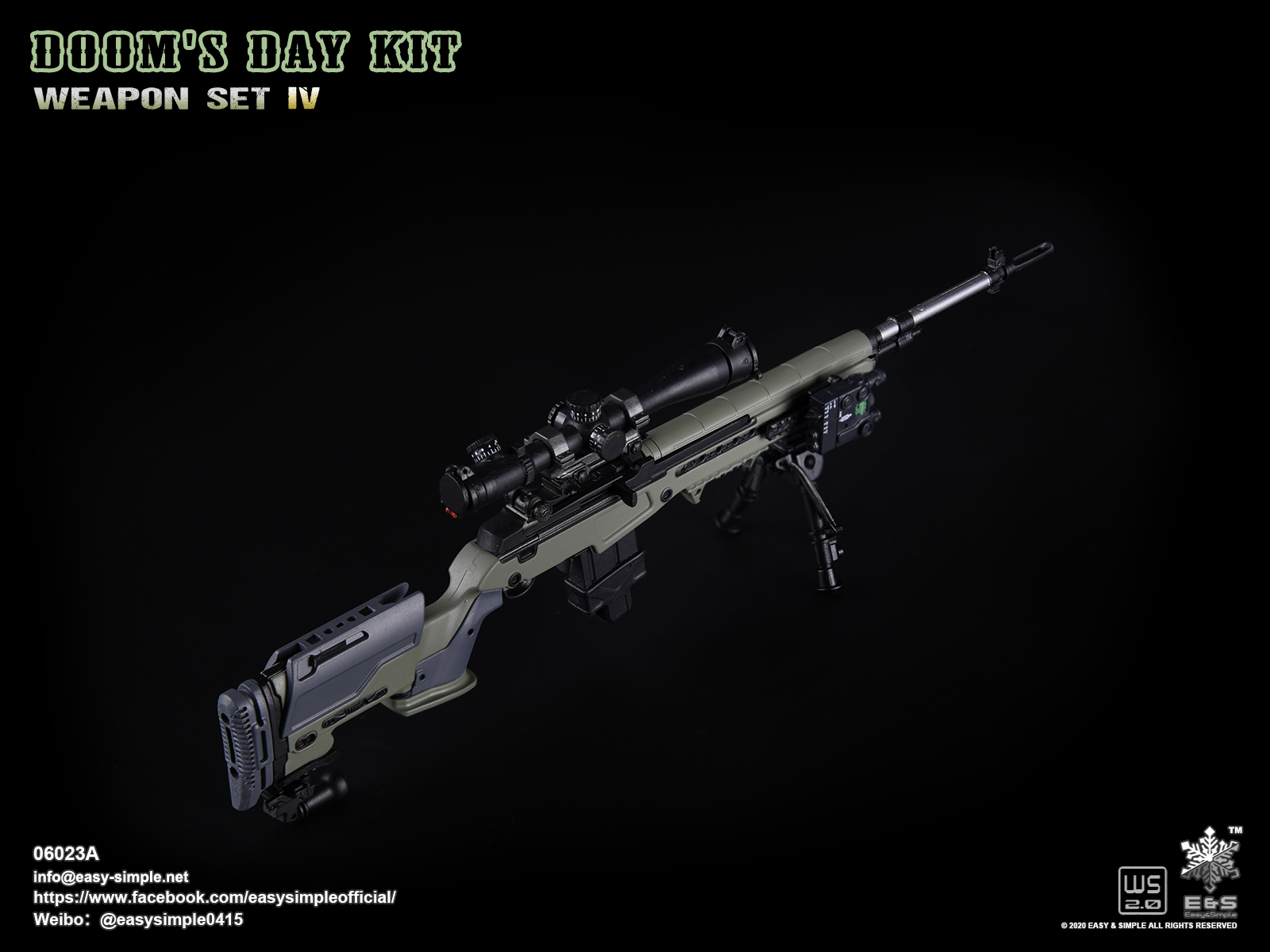 --M14 Rifle A19-49 1//6 scale es 06023 Doom/'s Day Kit IV