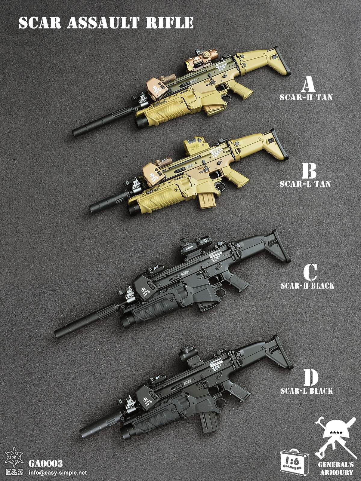 General's Armoury x Easy & Simple GA0003 SCAR Assault Rifle